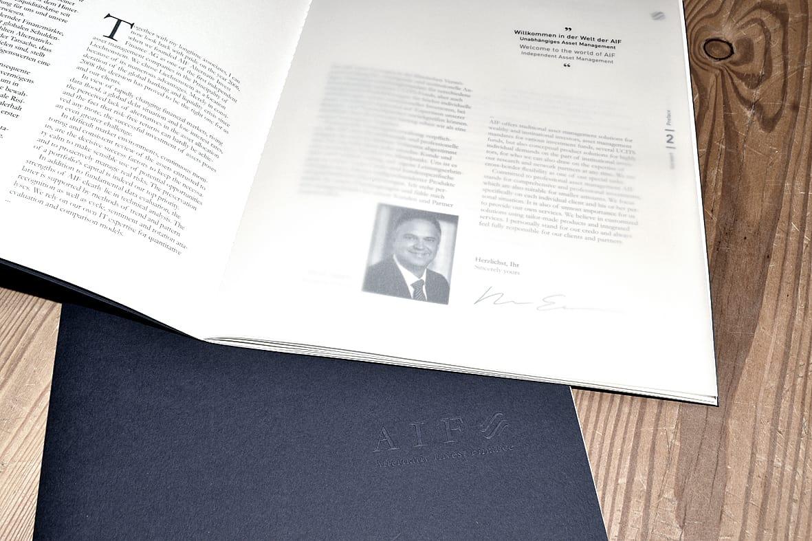 Imagebroschüren, Mappen - AIF