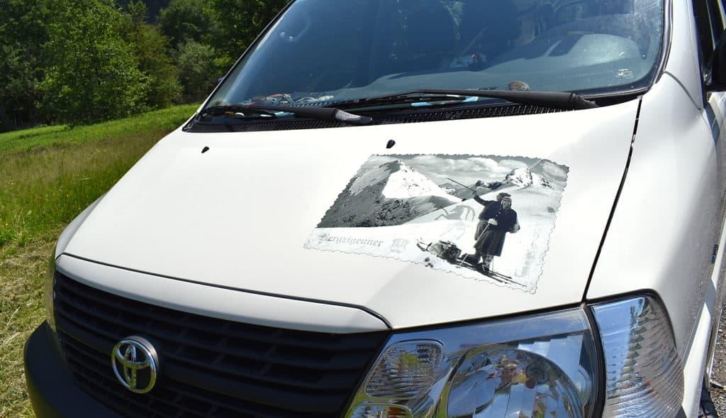 Autobeschriftung - Mobiles Silvretta Stüberl